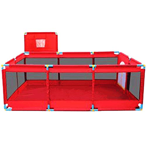 Meubles à chaussures Bébé Playpen Parc pour Bébé avec Petit Panier, Extensions pour Coins de Jeux Intérieur et Extérieur pour Bébé avec Tapis et Balle Océanique (Color : Red)