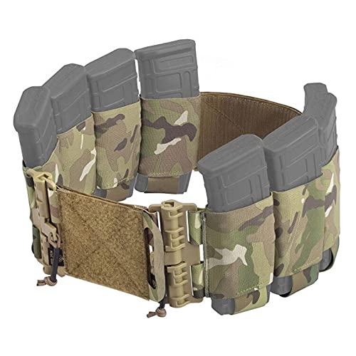 PETAC GEAR Elastic Cummerbund for Vest Quick Release Mounting Strap Tactical Stretch Cummerbund with 4 x AR Magazine Pouches for FCPC LBT LBX (Set)