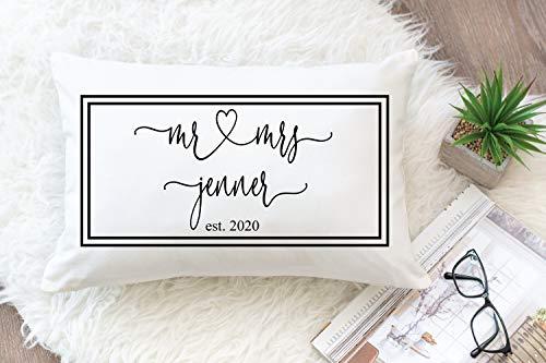Cuscino per 2° anno in cotone, Mr Mrs Pillow per marito, per Wif