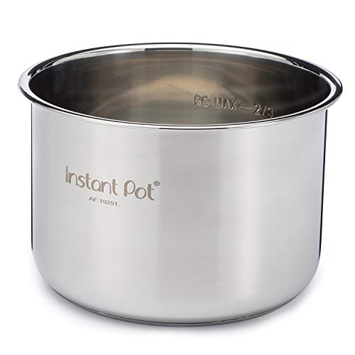 Instant Pot Inner Pot for Smart Electric Pressure Cookers, 6 Litres, Stainless Steel