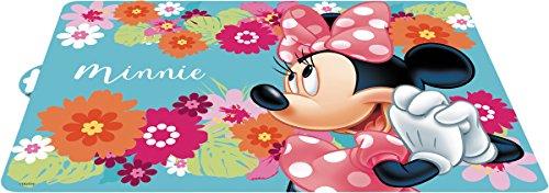 POS 68826088 - Tischset mit farbenfrohen Disney Minnie Mouse Motiv, Platzset aus Kunststoff für Jungen und Mädchen, ca. 42 x 29 cm groß, BPA-frei