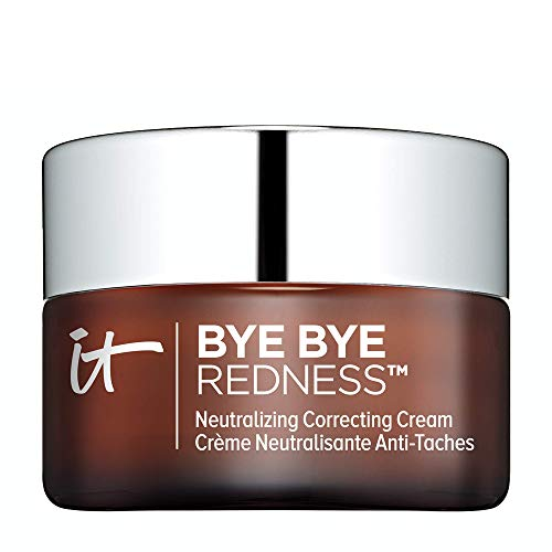 IT Cosmetics Bye Bye Redness, Transforming Neutral Beige - Neutralizing Color-Correcting Cream - Reduces Redness - Long-Wearing Coverage - With Hydrolyzed Collagen - 0.37 fl oz