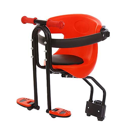 MINUS ONE Sicherheit Kinderfahrradsitz Babysitz Kindersitz Vorne Roller Fahrrad Fahrradträger mit Handlauf Pedal Fußpedale 30kg für Damen u. Herrenfahrrad, Baby Fahrrad Sitz