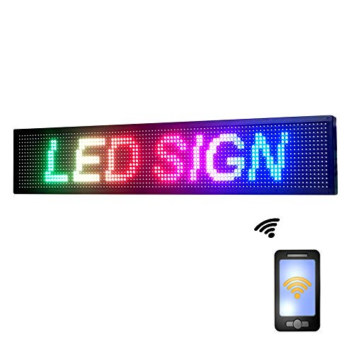 """Programmable Led Scrolling Display PH10 MM Indoor Full Color Led Sign 40"""" x 8"""" with high Resolution Advertising board"""