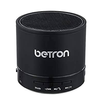 Betron KBS08 Wireless Portable Speaker Compatible with Smartphones Tablets Mp3 Players, Black from Betron