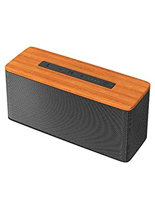 VTIN Soundhot B2 Bluetooth Speakers, 30W Loud Wood Home/Outdoor Wireless Speaker, Super Bass Stereo Sound, 66 Ft Bluetooth V5.0 and 20H Playtime,TWS connection from VTIN
