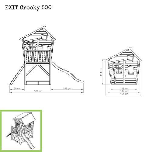 EXIT Crooky 500 Holzspielhaus - graubeige