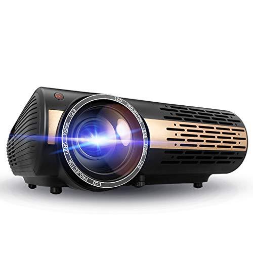 ZTBGY Multi-función del proyector, proyector de Home Smart Office Enseñanza 3D Full HD 1080P proyector es Compatible con WiFi proyección de Datos de vídeo