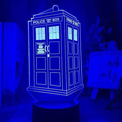 Lámpara de decoración de ilusión de luz de noche Led 3D, caja de llamada de Doctor Who óptico para dormitorio de niños, caja de policía para habitación de niños, cabecera
