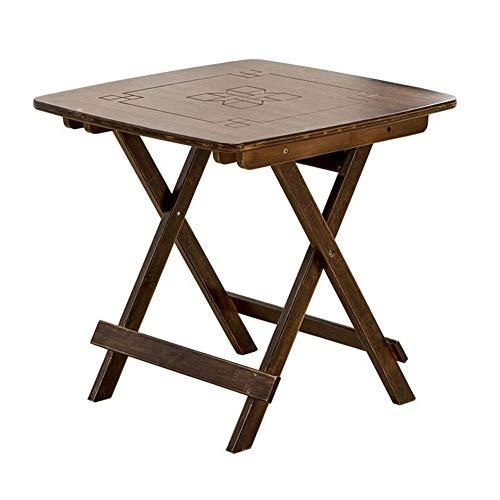 Tafel, klaptafel, natuurlijk bamboe, camping, picknick, strandtafel, tuintafel, eettafel, computertafel, licht en draagbaar CJC