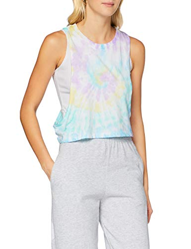 Urban Classics Ladies Short Tie Dye Loose Tank-Top T-Shirt, Pastel, S Femme