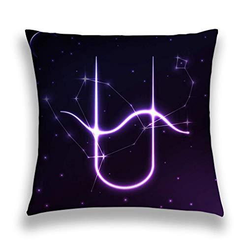 sherry-shop Funda de Almohada de Tiro Símbolo Espacial Horóscopo del Zodiaco Ofiuco Concepto de Arte Constelación de Estrellas Funda de cojín 20X20IN