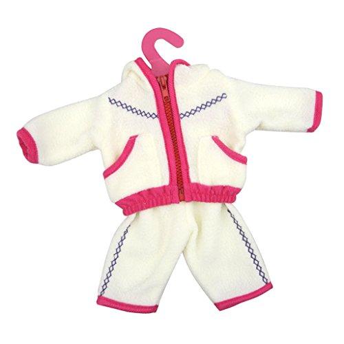 Veste Sweat-shirt Et Pantalons d'Hiver Vêtements Pour Poupée 18 inch Fille Américainne - Fuchsia