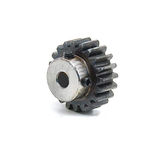 1.5Mod 16T Metal Spur Gear With Step 45# Steel Motor Gear 1.5M16T Bore 6mm (Bore:6mm)