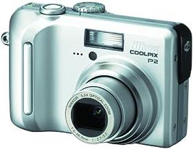 Nikon Coolpix P2 Digitalkamera (5 Megapixel, Wi-Fi) in Silber