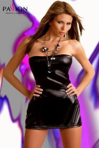 Passion Beltis Mini Wet Look Dress Black S / M by NA