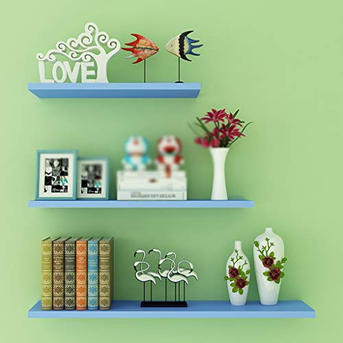 Wall shelf Floating Shelf wandplank, set van 3 verschillende maten, houten zwemrek 60 50 40 cm, witte houten planken, boekenrek voor keuken, slaapkamer, woonkamer, decoratieve hangende rekken S F