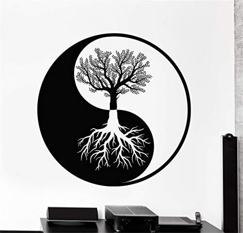 stickers muraux enfants alphabet Résumé des racines de l'arbre Yin Yang