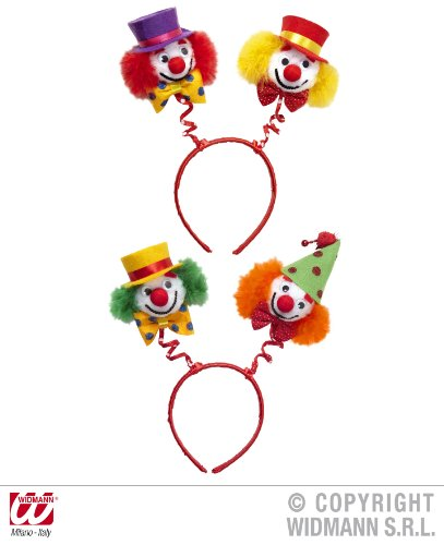 Widmann Clownkopf-Boppers (grün/orange & rot/gelb) Clownmützen & Kopfbedeckung für Kostüme Zubehör
