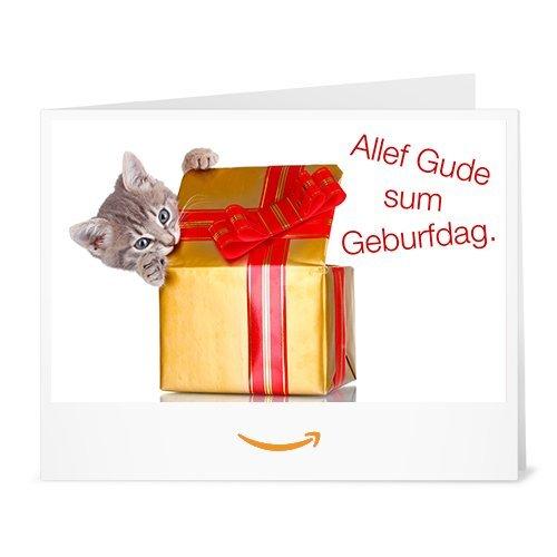Amazon.de Gutschein zum Drucken (Geburtstagsgruß einer Katze)
