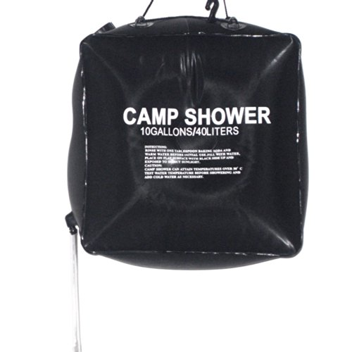 Docooler 40L 10 Gallon Camping Wandern Solaranlage für warmes Camp Shower Bag Outdoor Shower Wasserbeutel