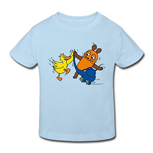 Die Sendung Mit Der Maus Tanzt Mit Elefant Und Ente Kinder Bio-T-Shirt, 134-140, Hellblau