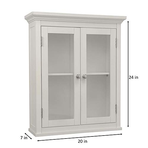 wood and glass storage cabinet - 8
