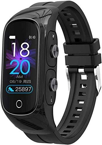 Gymqian Pulsera Inteligente Auriculares Bluetooth Inalámbrica Fitness Tracker Watch Activity Tracker Smart Watch Sports Watch Pedómetro-1 Exclusivo / 4