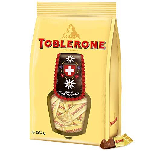 Toblerone Alpenmilch Minis 1 x 864g, Feine Schweizer Milchschokolade mit Honig- und Mandelnougat