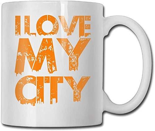Tazza da caffè con scritta'I Love My City', idea regalo per la famiglia e gli amici