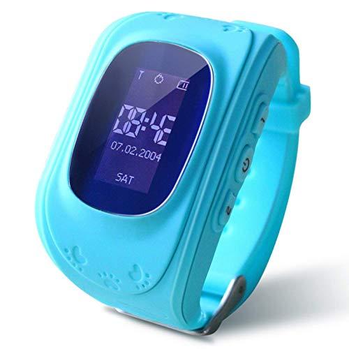 Q50 Smart Watch,GPS Waterproof Screen Fitness Watch,with Heart Rate Monitor,Pedometer,Sleep Monitor,Silent Alarm Clock,Super Battery Life,Slim Smart Bracelet(Light Blue)