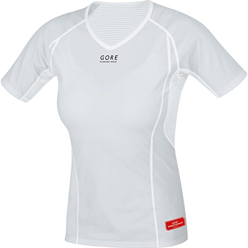 GORE WEAR Uweshw Maillot Femme Gris Clair/Blanc FR : 38 (Taille Fabricant : 38)