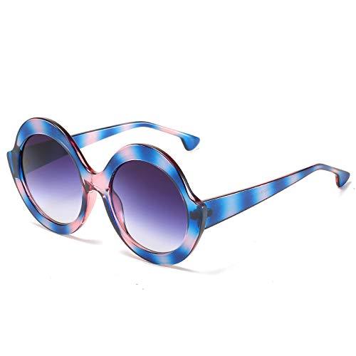 Gafas de Sol Gafas De Sol Redondas De Gran Tamaño Vintage para Pesca, Gafas De Sol De Lujo con Montura Grande para Mujer, Gafas De Sol Negras con Grad