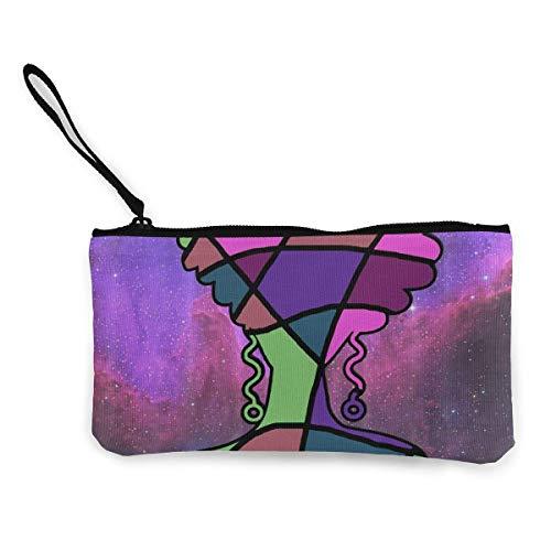 Monedero de lona para mujer, con diseño de historia, unisex, diseño de impresión 3D, para hombres y mujeres
