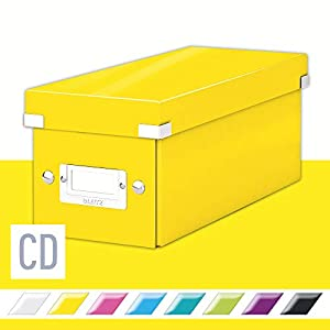 Leitz Caja de Almacenaje A3, Gama Click and Store 60450016 – Grande, Amarillo