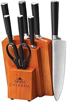 Ginsu Gourmet Chikara Series Forged 8-Piece Japanese Steel Knife Set