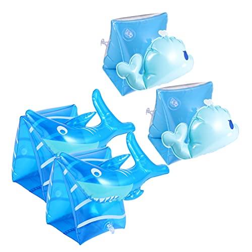 Abaodam 2 Pairs Aufblasbare Schwimmen Arm Bands Floater Ärmeln Meerjungfrau Muster Schwimmen Ringe Rohr Armbinden für Kinder Kleinkinder Erwachsene