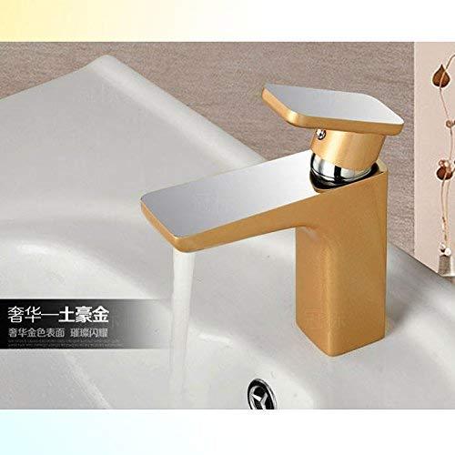 Single Hever warm en koud messing mengklep om de badkamer wastafel roteren, zwart hoog (tafel wastafel mixer The Ho Kim
