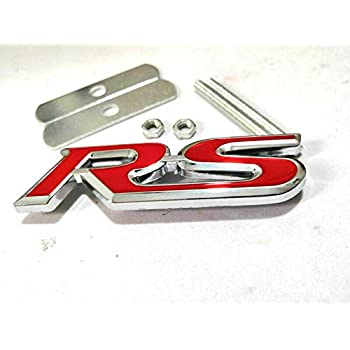 R Logo 3D Metal Red R Racing Front Hood Grille Badge Emblem Decoration