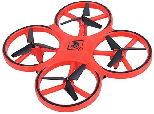 Vierassige sensor positie van de zwaartekracht speelgoed UFO vliegen drones medaille sensor 3D LED horloge kinderen,rood