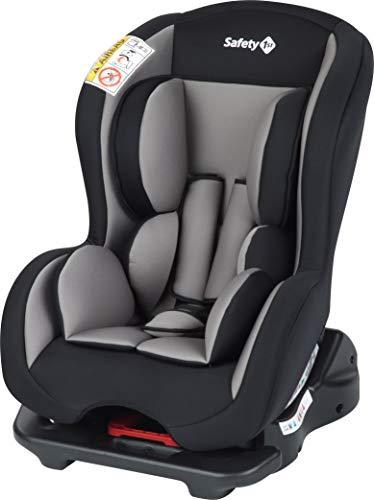 Safety 1st Kindersitz Sweet Safe, mitwachsender Autositz der Gruppe 0/1 (0 - 18 kg), weich gepolstert und inkl. 5-Punkt-Gurt, nutzbar ab der Geburt bis ca. 4 Jahre, hot grey
