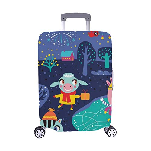 Happy New Year 2019 Spandex Trolley Case Travel Luggage Protector Suitcase Cover 28.5 X 20.5 Inch