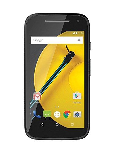 Motorola Moto E (2 Generazione) Smartphone, Display 4,5 Pollici QHD, LTE, Fotocamera 5 MP, Processore 1,2GHz Quad-Core, 1GB RAM, Memoria 8GB, Micro-SIM, Android 5 Lollipop, Nero [Germania]