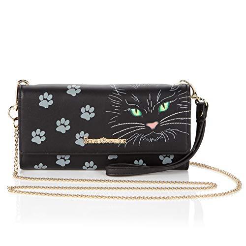 Shagwear Clutch handtasche, Portemonnaie Geldbörse für junge Damen, Mädchen, Geldbeutel Portmonaise groß| Verschiedene Farben und Designs (Katze augen/Cat's Eyes)