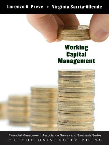 Working Capital Management (FMA SURVEY)