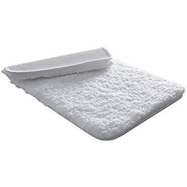 Lifewit Bath Mat White Bathroom Rug Soft Shag Water Absorbent with Non-Slip Rubber, 20  x 32