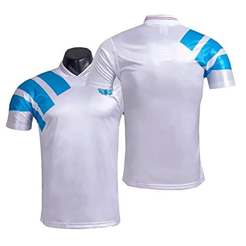 MRRTIME Ropa de fútbol Vintage, Camiseta de Jersey de fútbol Antiguo de Camiseta de fútbol Retro de 1992-1993, Sudadera Coleccionable de fanáticos-L