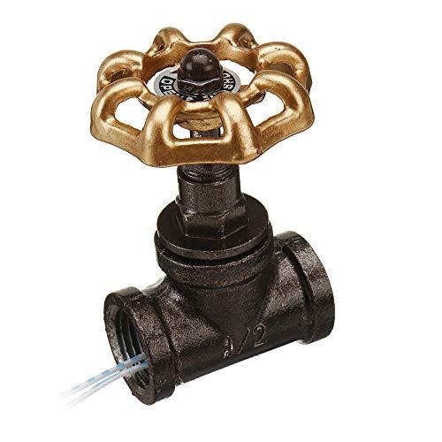 BOSAIYA Qaz1 Válvita Vintage Steampunk 1/2 Pulgadas válvula de Parada de 1/2 Pulgadas Interruptor sin rodeos con Alambre Tl0322