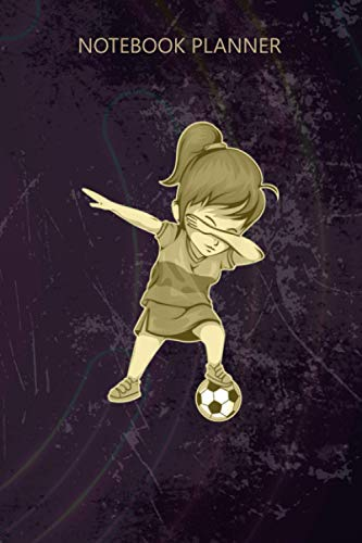 Notebook Planner Dabbing Soccer Girl Colombia Jersey Colombian Football: Personal, 6x9 inch, Notebook Journal, 114 Pages, To Do, Work List, Daily, Happy