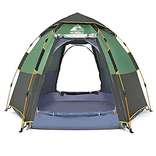 YYGG Tienda de Campaña Familiar 3-4 Personas Carpa Grande Acampada Tipo Refugio para Playa Picnic Portátil y Impermeable con Bolsa de Transporte Mosquitera Protección Solar UV(283 X 283 X168CM)